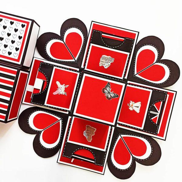 جعبه-سوپرایز-قرمز-مشکی-سفید
